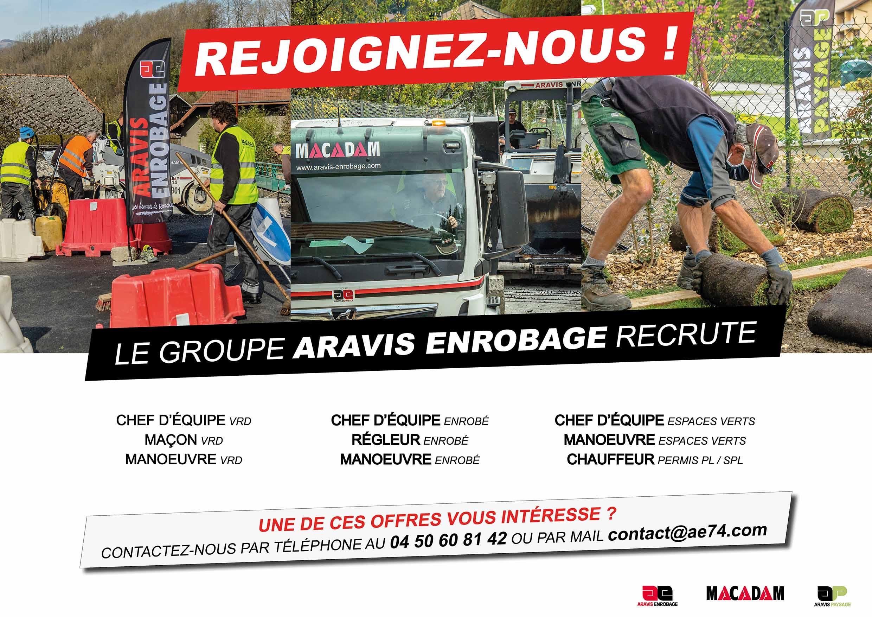 ARAVIS ENROBAGE recrute !